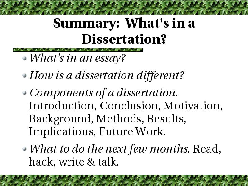 future implications dissertation
